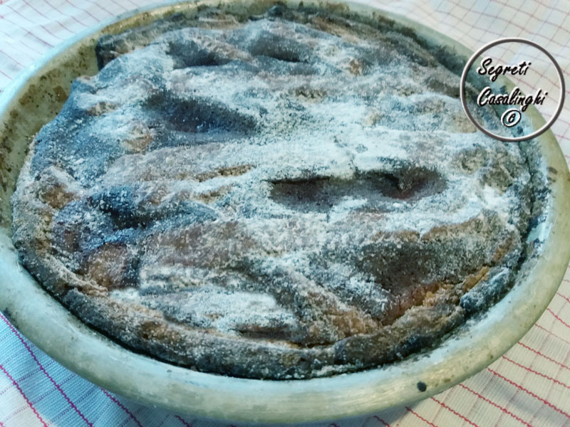 crostata cioccolato fondente ripieno cremoso cioccolato