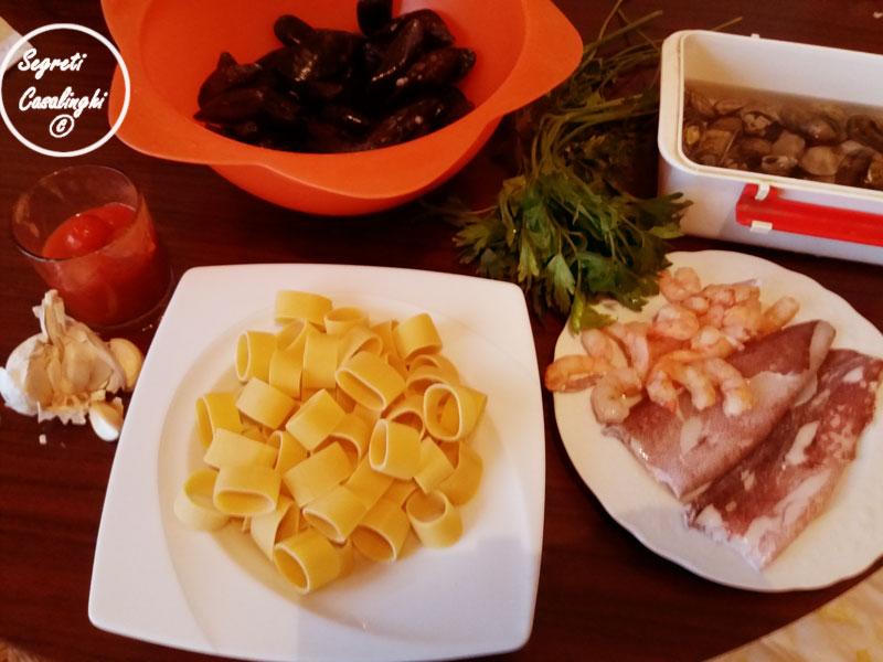 calamarata frutti di mare