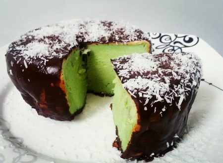 Pancake alto e soffice gusto After-Eight (menta, cioccolato e cocco)