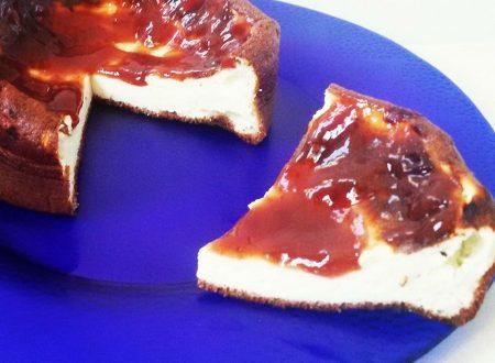 Cheesecake fredda senza grassi (cottura senza forno)