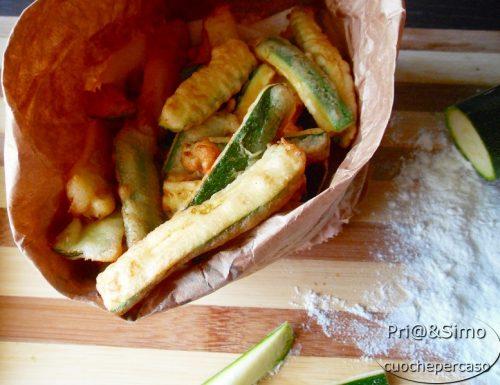 Chips di zucchine in pastella di birra