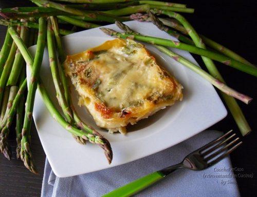 Lasagne con asparagi e ricotta