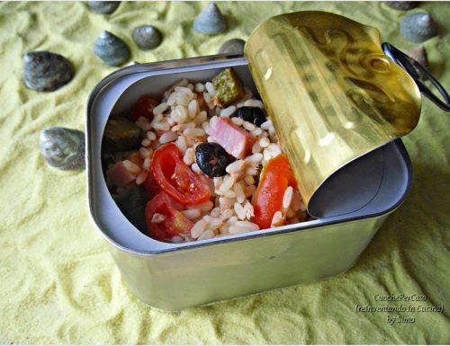riso freddo alle olive e prosciutto