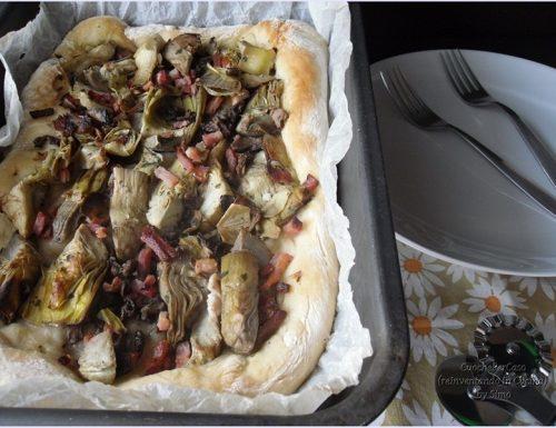 Pizza alta ai carciofi