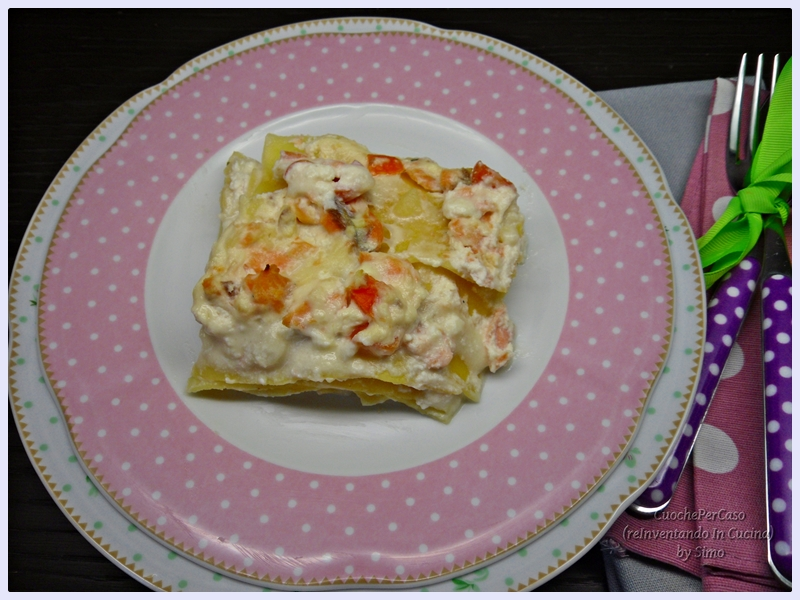 lasagne con trota salmonata e ricotta