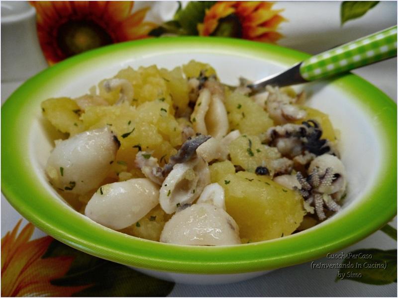 insalata di seppie e patate lesse