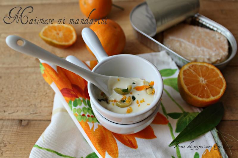 maionese agli agrumi salsa ai mandarini