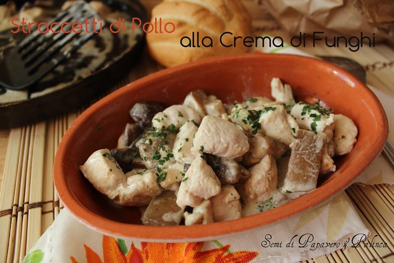 pollo alla crema di philadelphia e funghi