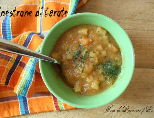 Minestrone di carote , ricetta antica e salutare