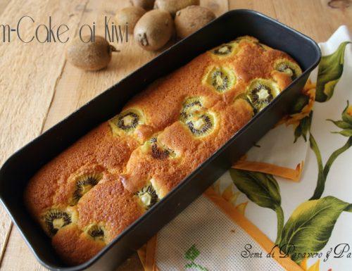 Torta plum-cake ai kiwi , dolce bontà