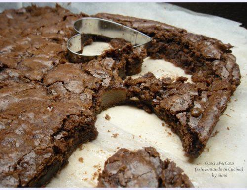 Brownies al cioccolato e pere