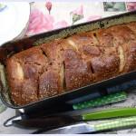Plum-cake al cioccolato , pere e ricotta