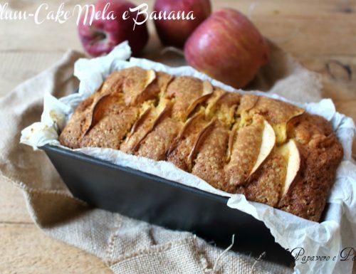 Plum – cake mela e banana , ricetta senza burro