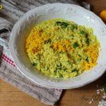 Risotto mimosa con asparagi