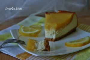cheesecake con crema di limone