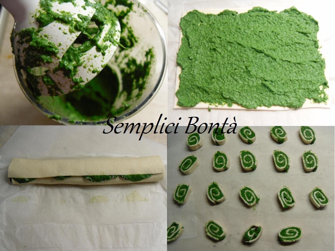 girelle con spinaci