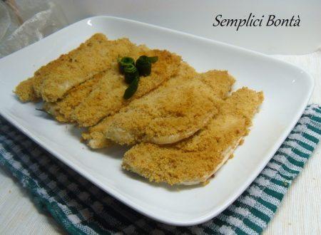 FILETTO DI BRANZINO PANATO  AL FORNO ricetta di mare