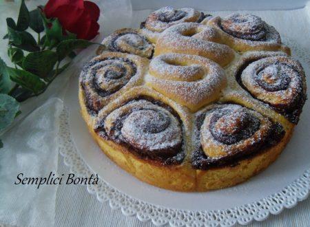 TORTA DI ROSE ALLA NUTELLA – ricetta per colazione