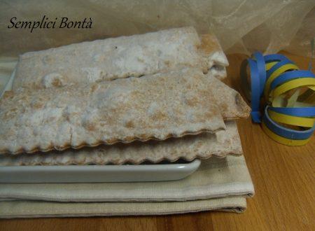 CHIACCHIERE AL FORNO – ricetta dolci di carnevale