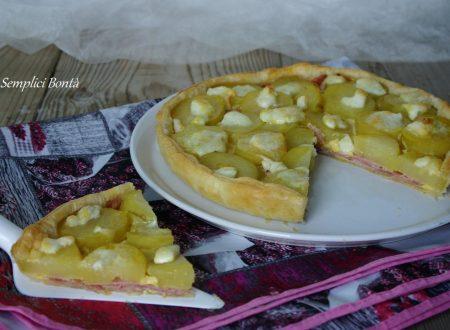 TORTA SALATA CON PROSCIUTTO E PATATE – ricetta gustosa