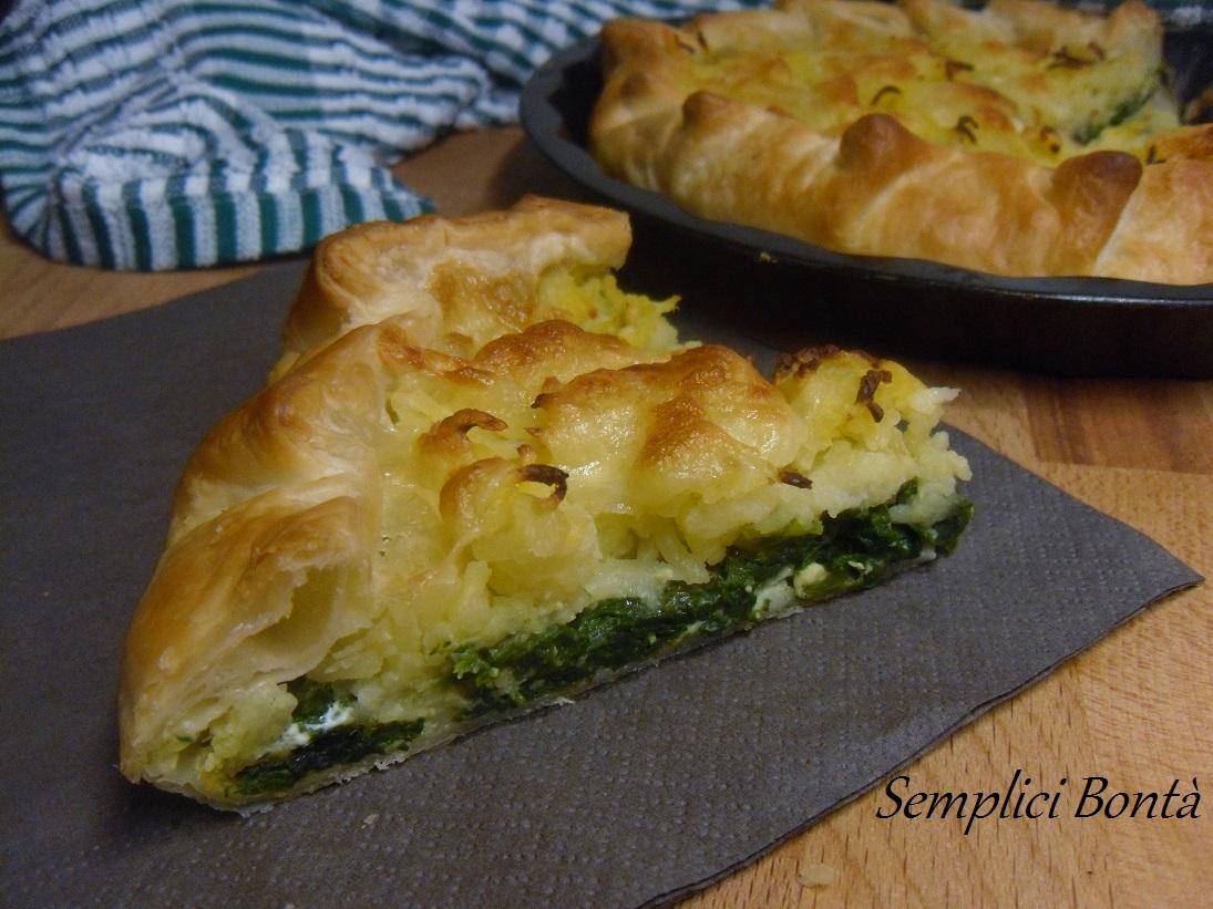 Ricetta semplice torta salata ricotta e spinaci