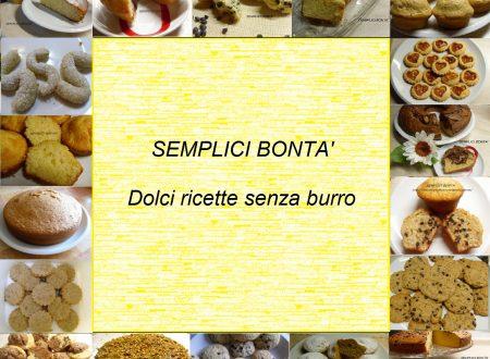 Raccolta di ricette di dolci senza burro in pdf