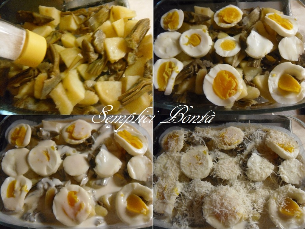 Carciofi e patate al gratin