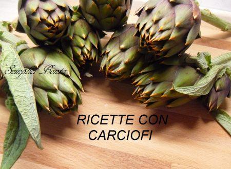 RACCOLTA DI RICETTE CON CARCIOFI