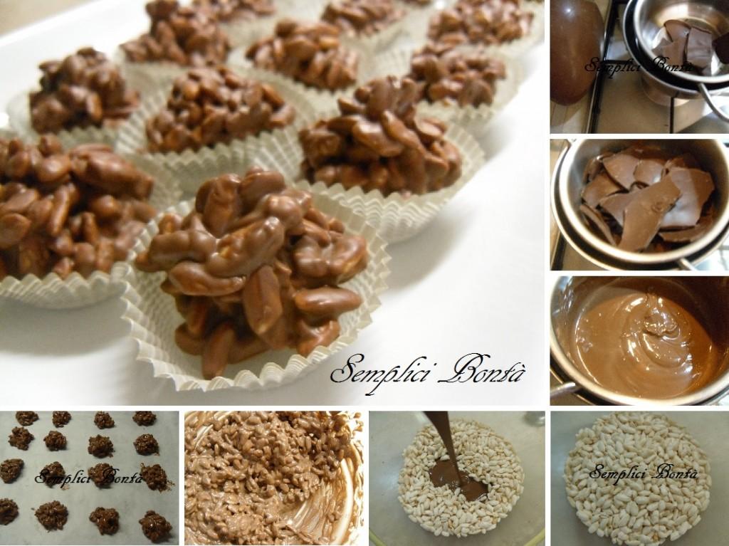dolcetti di riso soffiato e cioccolato
