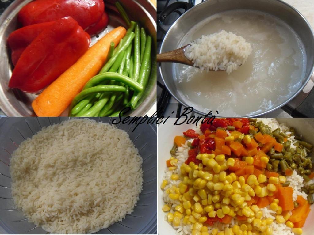 Insalata di riso e verdure