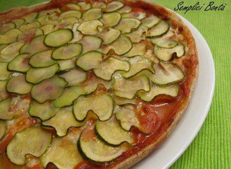 PIZZA INTEGRALE CON ZUCCHINE