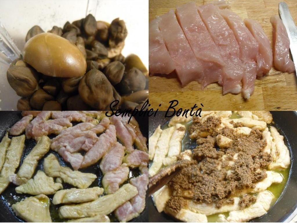 straccetti di pollo alle olive e capperi