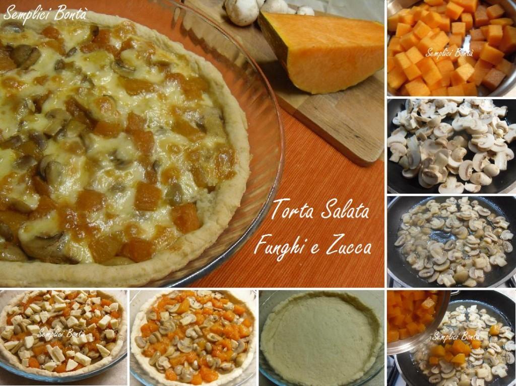 TORTA SALATA FUNGHI E ZUCCA