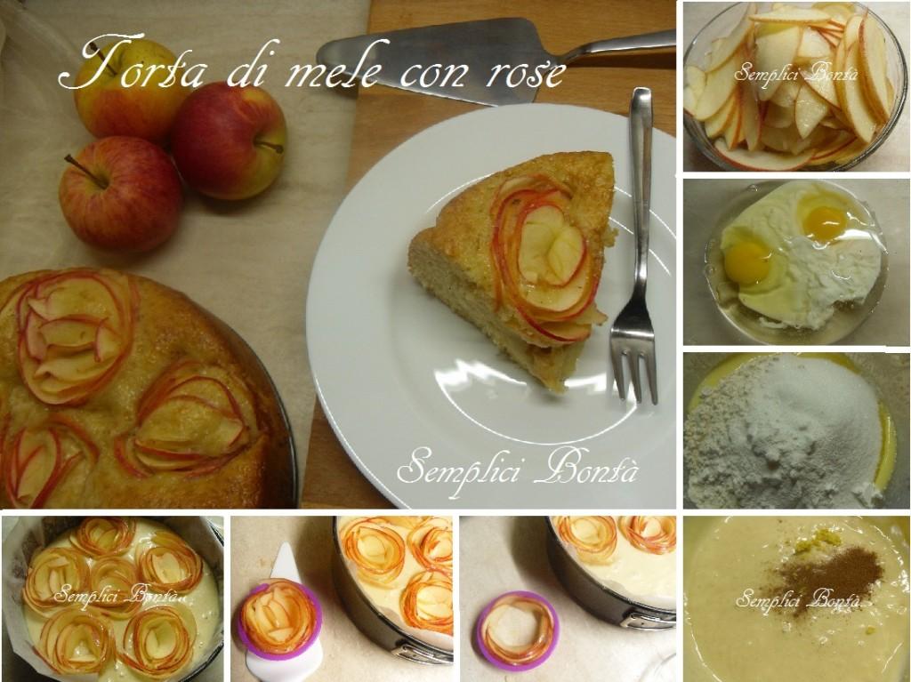torta di mele con rose