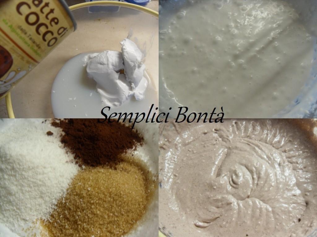 torta la latte di cocco e cioccolato fondente