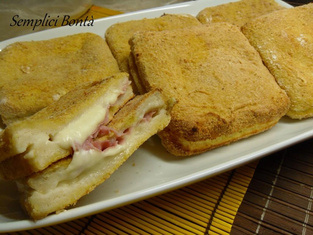 Mozzarella in carrozza al forno con prosciutto semplici for Ricette mozzarella in carrozza al forno