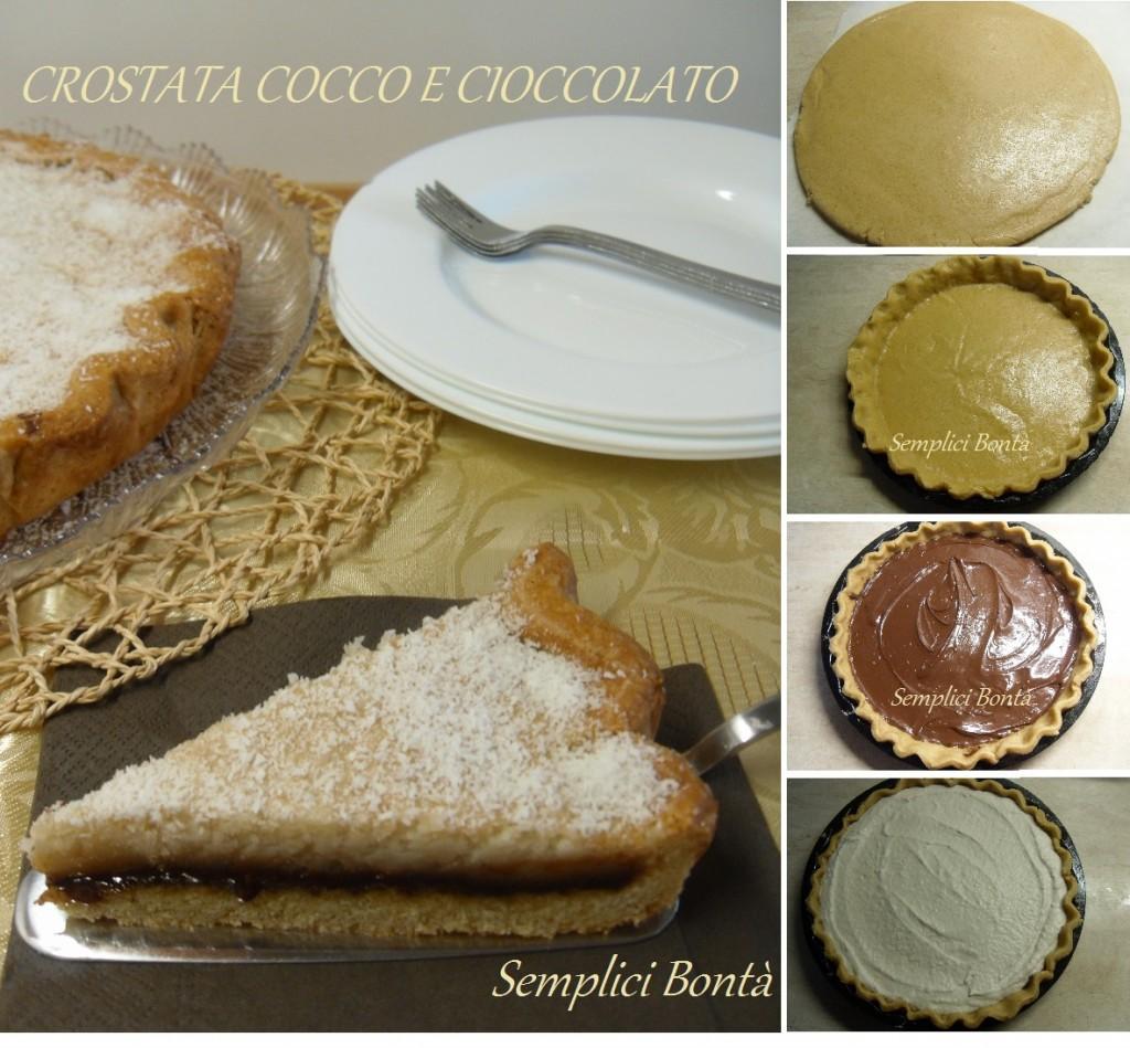 crostata cocco e cioccolato