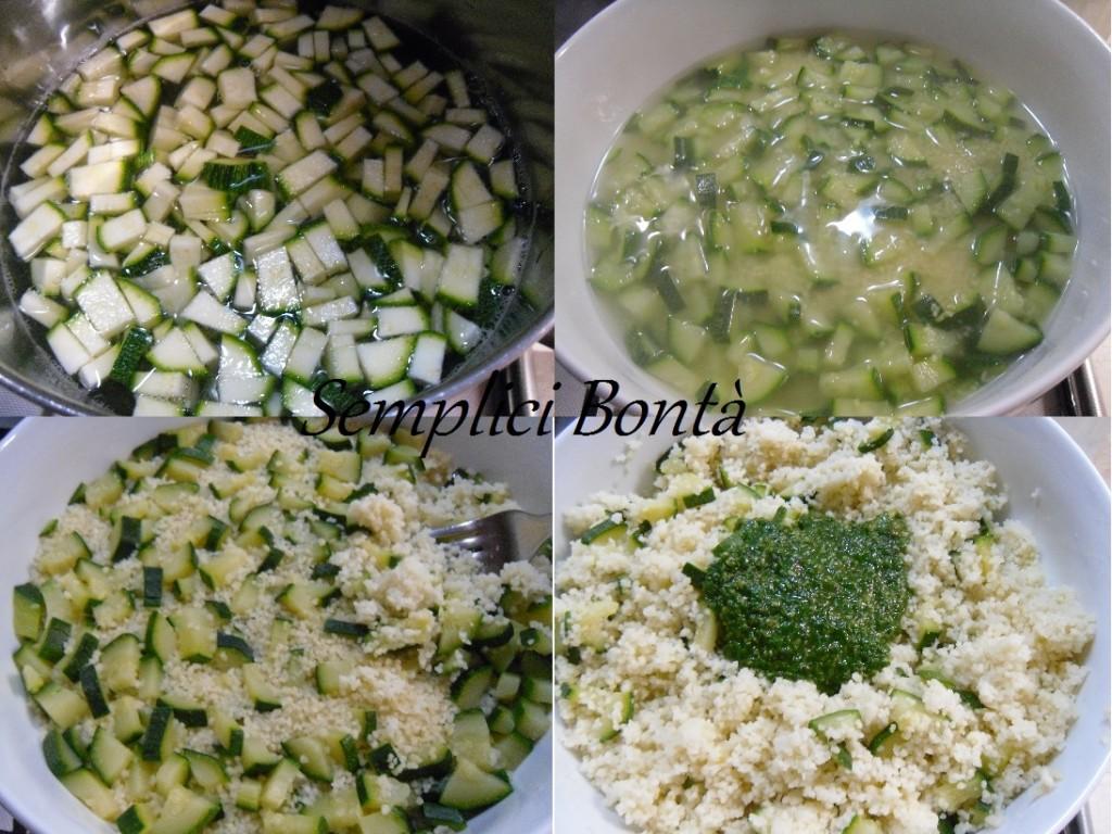 cous cous pesto e zucchine