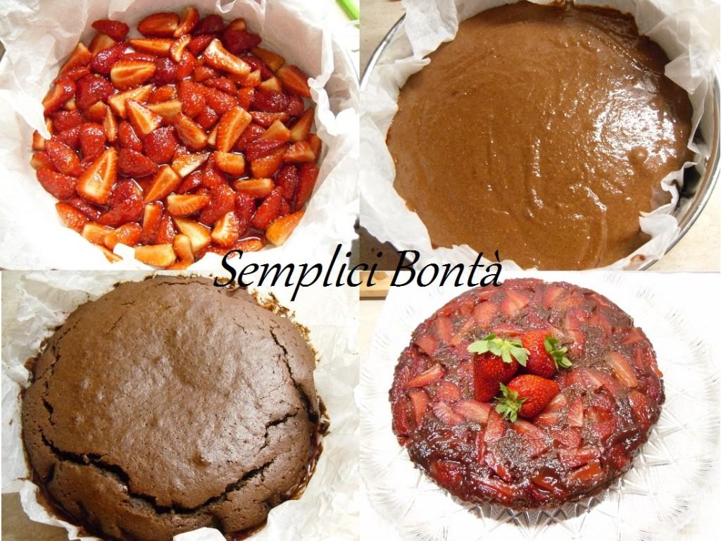 torta rovesciata fragole e cacao 2