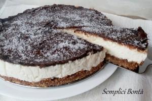 CHEESECAKE COCCO E NUTELLA SENZA FORNO