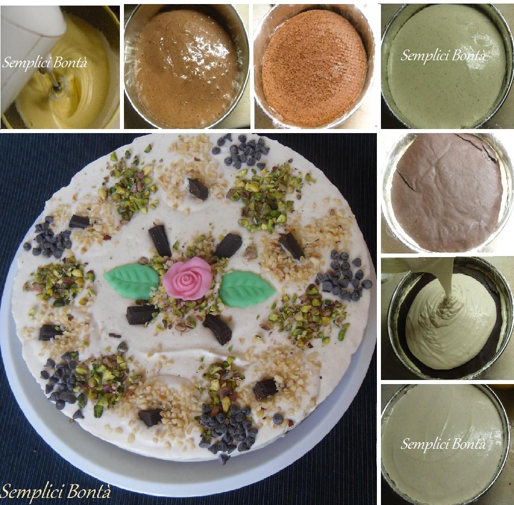 torta semifreddo nocciola e pistacchi 4