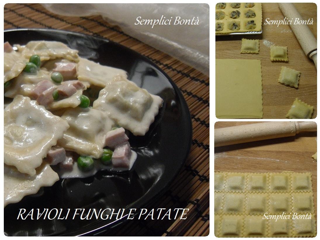 ravioli funghi e patate
