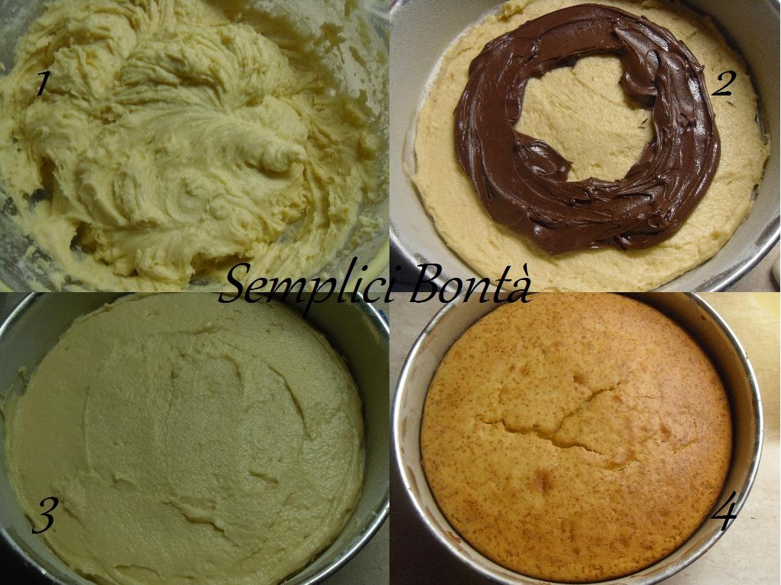 torta di ricotta con cuore di nutella
