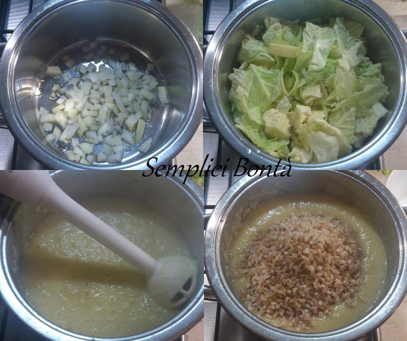 zuppa di verza ai 5 cereali