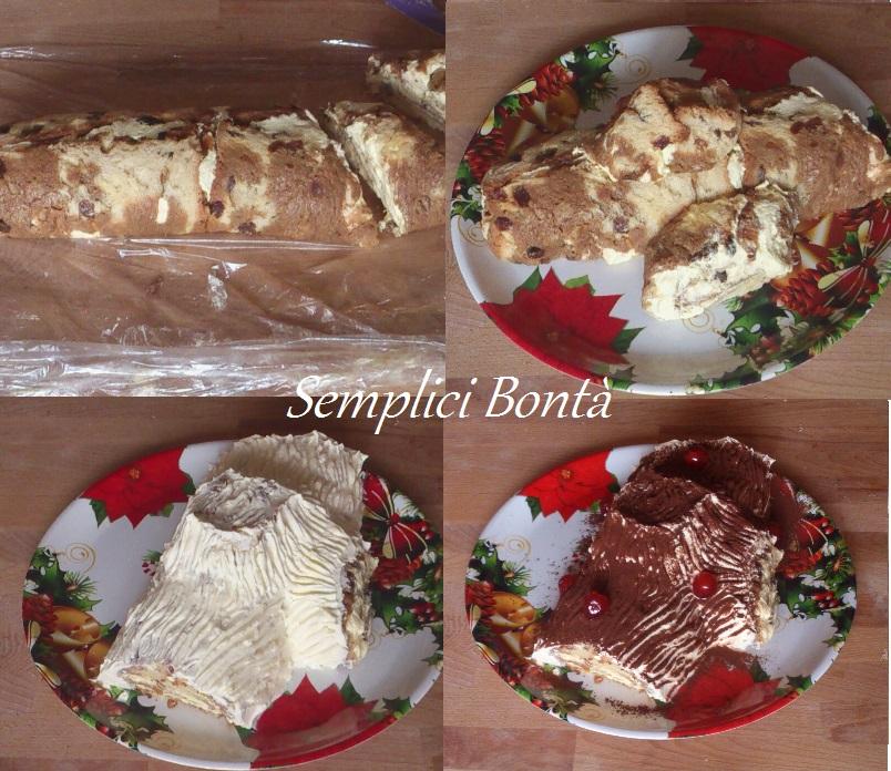 Tronchetto Di Natale Panettone.Il Tronchetto Di Panettone Al Tiramisu Ricetta Facile