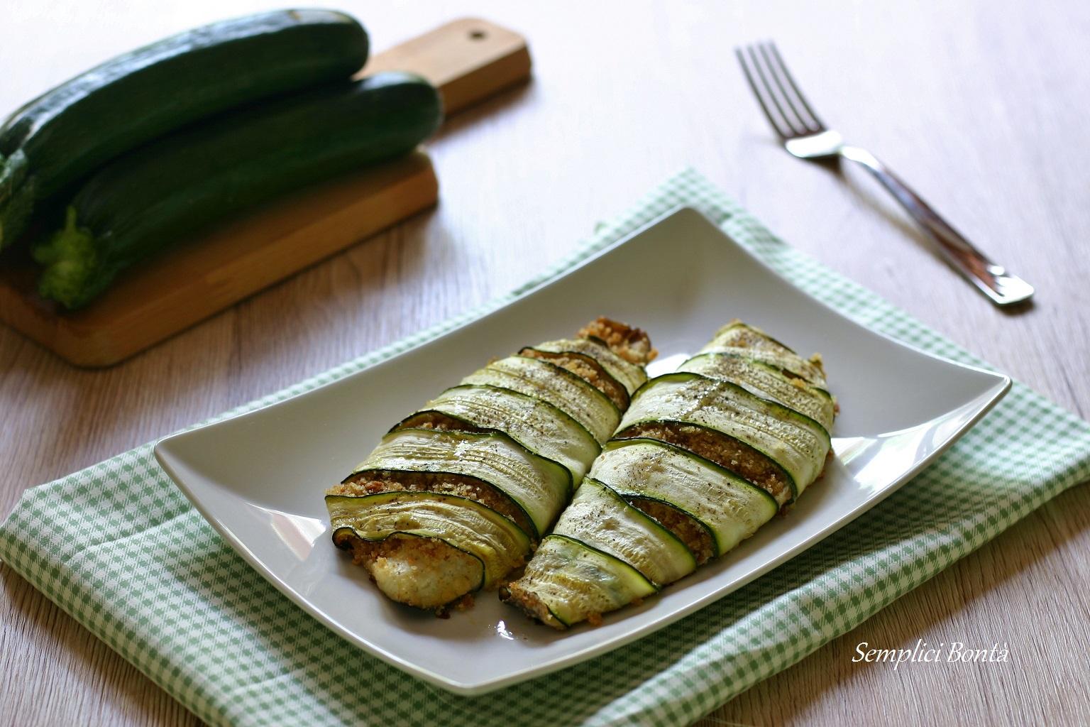 Disegno cucinare filetti di branzino : FILETTI DI BRANZINO AL FORNO IN CROSTA DI ZUCCHINE