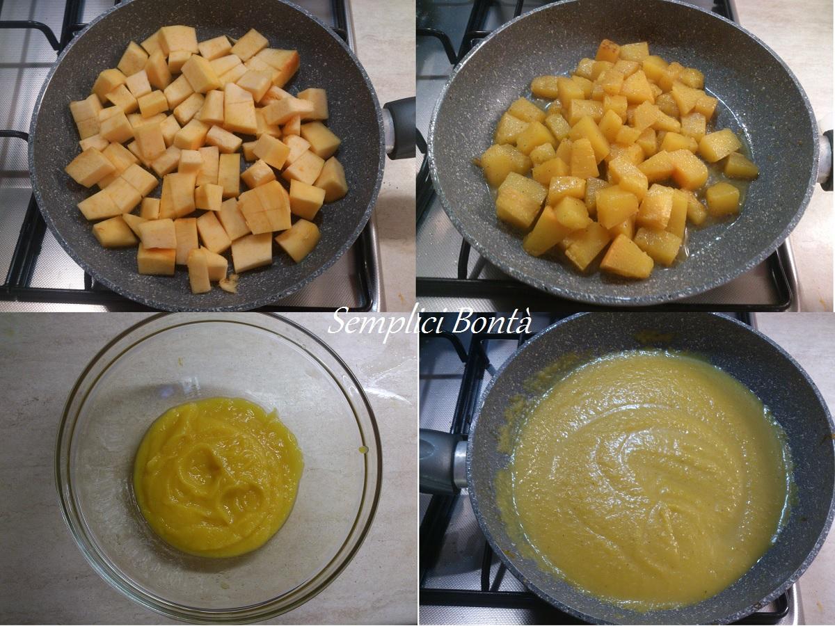 Pasta con crema di zucca e pistacchi
