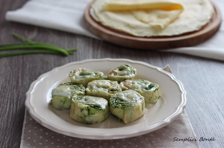 crespelle con ricotta e spinaci