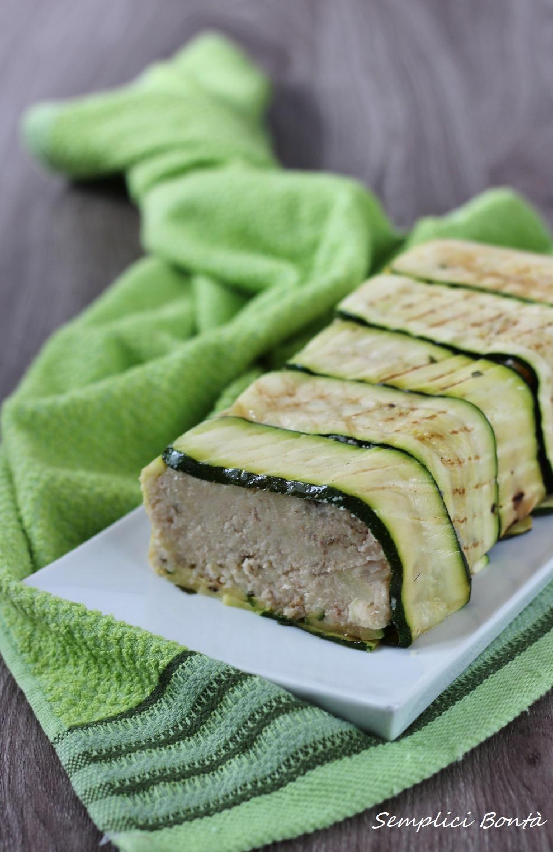 polpettone di tonno in crosta di zucchine