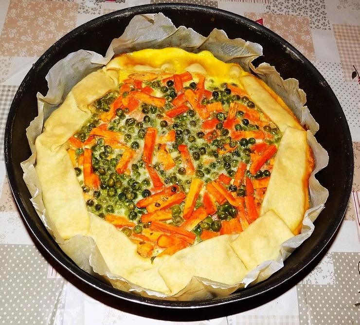 Tortino salato carote e piselli